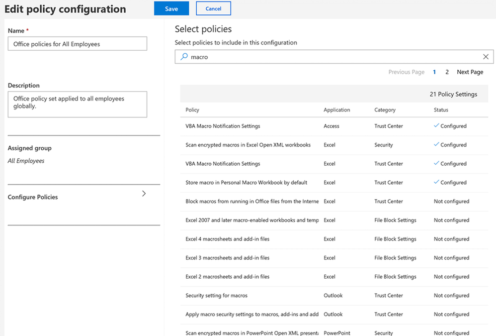 Announcing the new cloud-based policy management service for Office 365 ProPlus